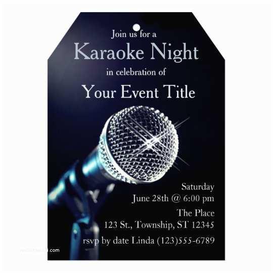 Karaoke Party Invitations Adult S Karaoke Party Custom Invitation