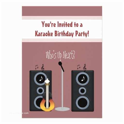 Karaoke Party Invitations Karaoke Birthday Party Invitation