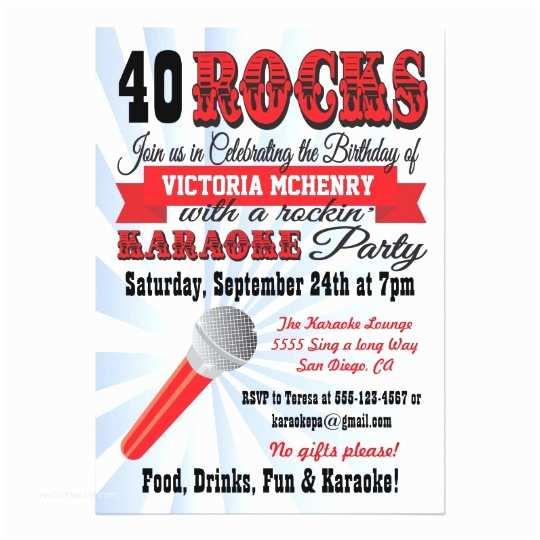 Karaoke Party Invitations Karaoke Birthday Party Poster Style Invitation
