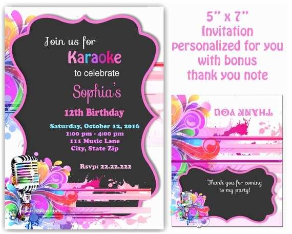 Karaoke Party Invitations Karaoke Invitation Karaoke Party Invitation Karaoke