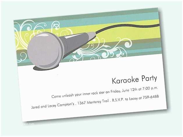 Karaoke Party Invitations Karaoke Party Invitations