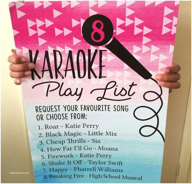 Karaoke Party Invitations Karaoke Themed Birthday Party Invitation From £0 80