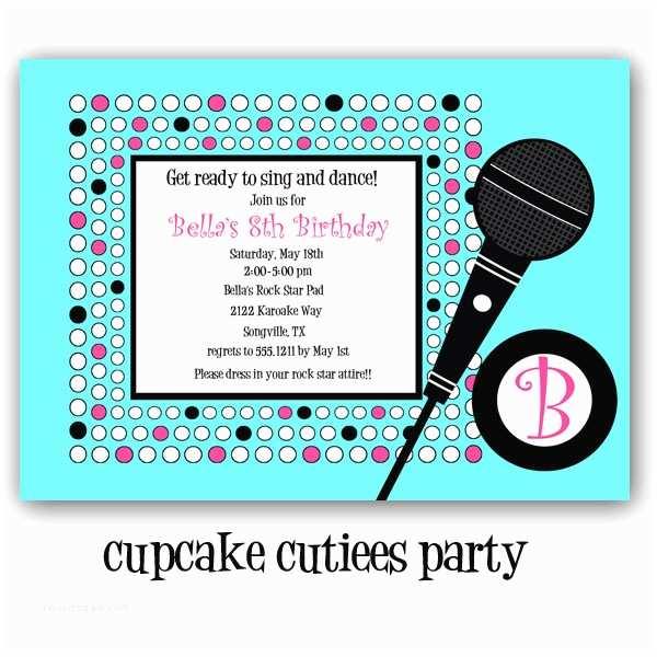 Karaoke Party Invitations Modal Title