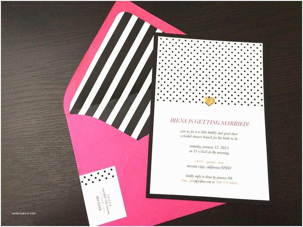Kate Spade Wedding Invitations A Kate Spade Inspired Bridal Shower