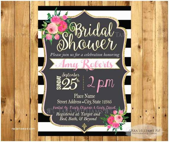 Kate Spade Wedding Invitations Kate Spade Inspired Bridal Shower Invitation by