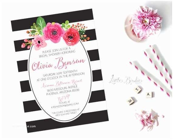 Kate Spade Wedding Invitations Kate Spade Inspired Wedding Shower by Littlebir Printco
