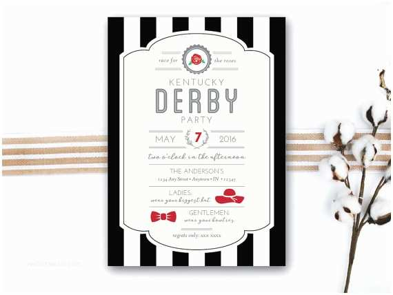 Kentucky Derby Party Invitations Instant Download Kentucky Derby Invitation Derby Party