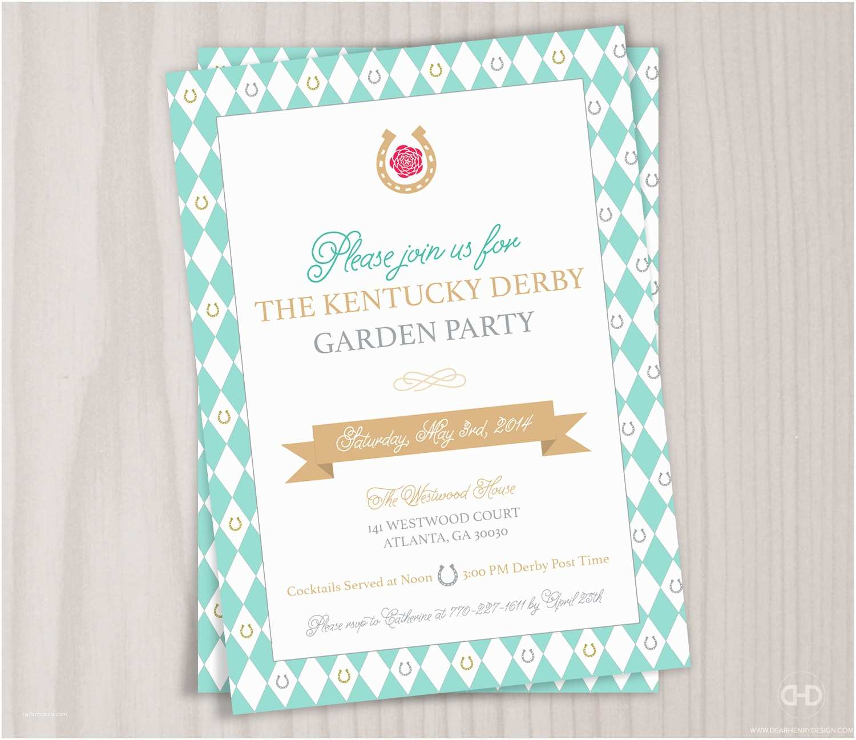 Kentucky Derby Party Invitations Kentucky Derby Invitation Garden Party Invite Brunch Tea