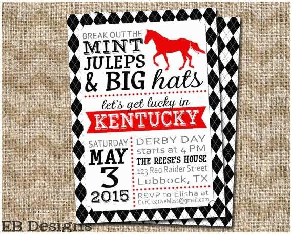 Kentucky Derby Party Invitations Kentucky Derby Invitation