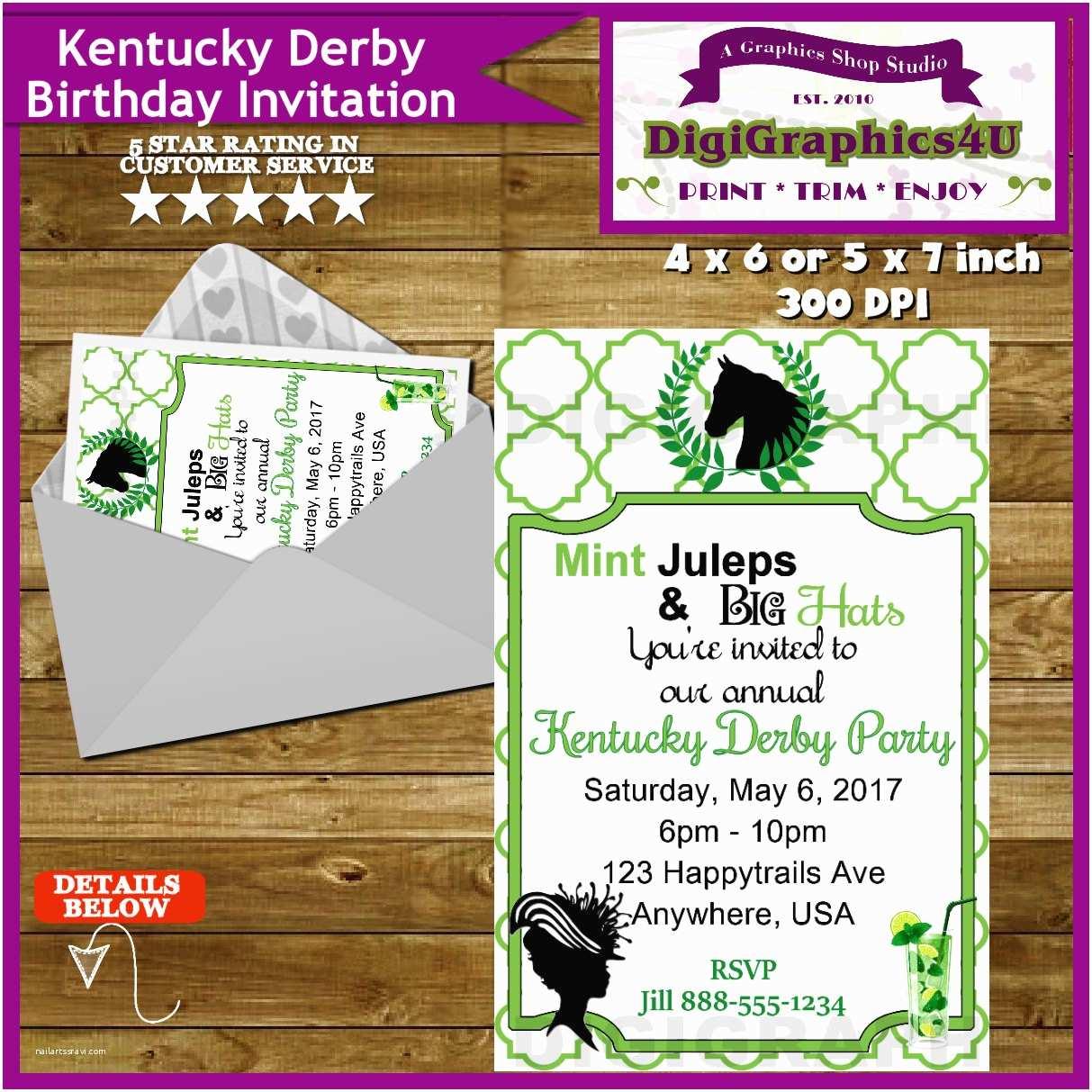 Kentucky Derby Party Invitations Kentucky Derby Party Invitation Derby Party Horse Racing