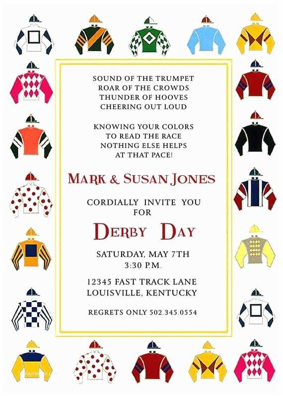 Kentucky Derby Party Invitations Kentucky Derby Party Invitation Horse Racing Invitation