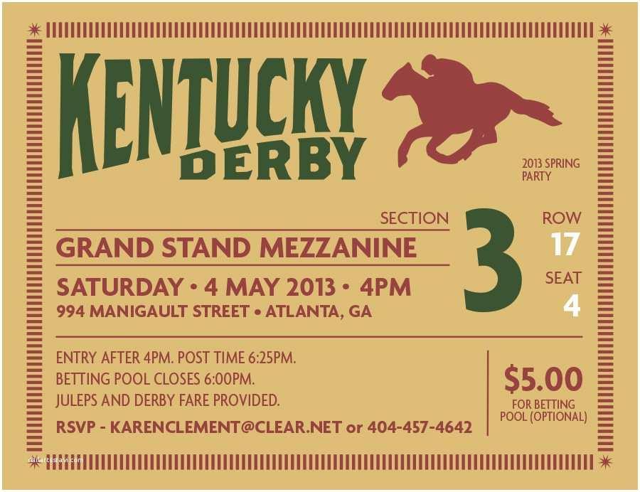 Kentucky Derby Party Invitations Kentucky Derby Party Invitations