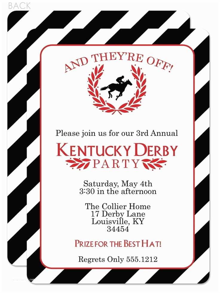 Kentucky Derby Party Invitations Kentucky Derby Party Invite Party Ideas