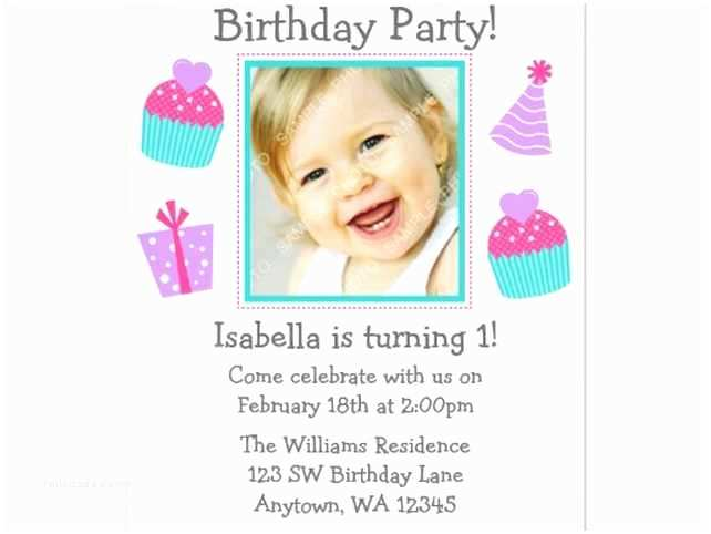 Kids Birthday Invitation Wording 1st Samples