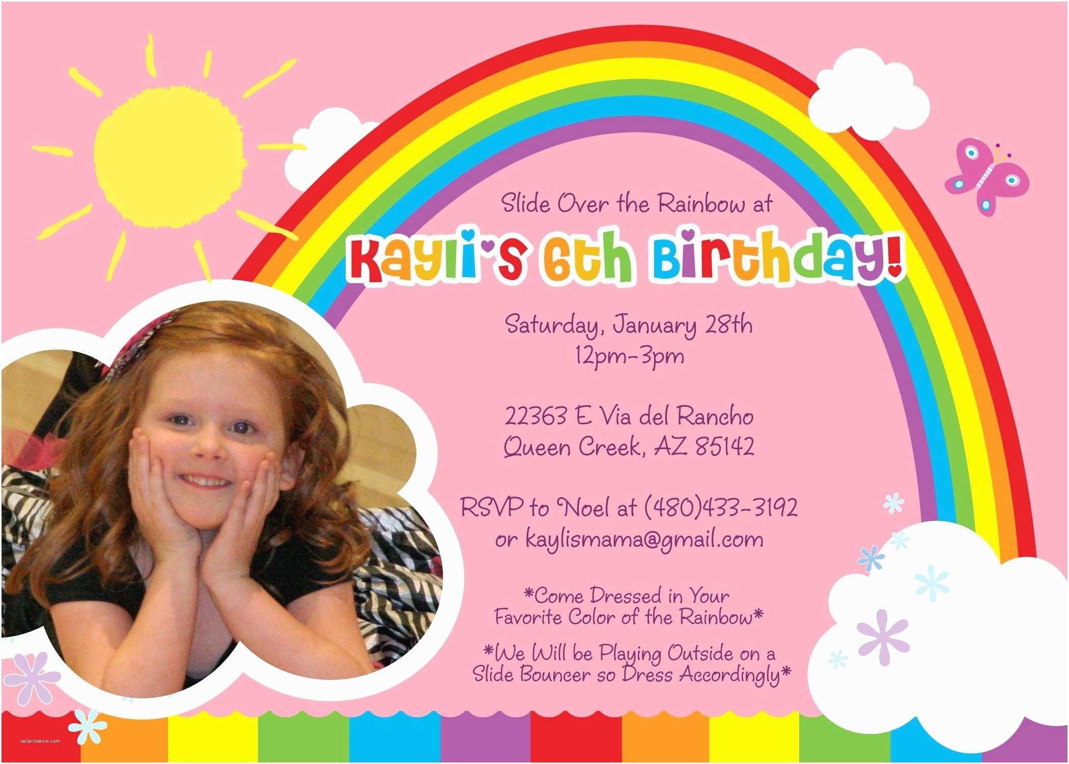 Kids Birthday Invitation Wording Birthday Invitation Birthday Invitation Card Template