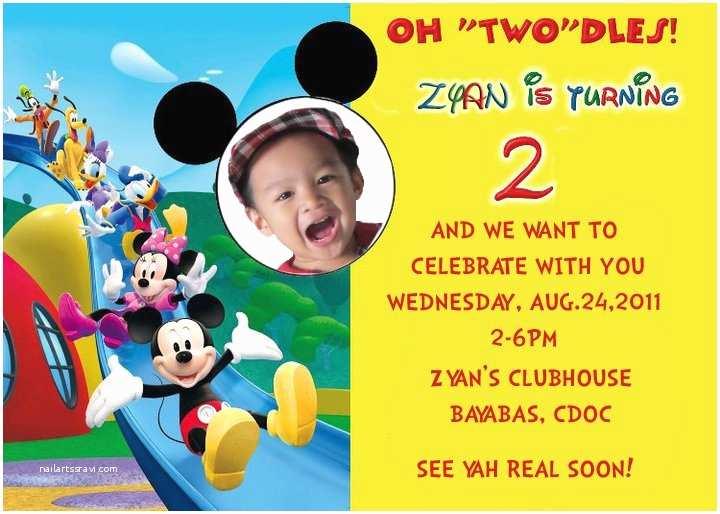 Kids Birthday Invitation Wording Free Printable Mickey Mouse Birthday Invitations
