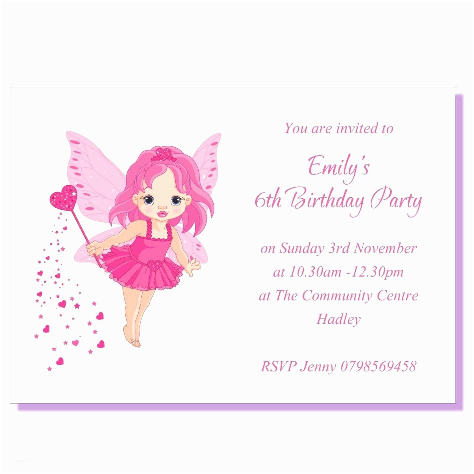 Kids Birthday Invitations Childrens Party Invites Toddler