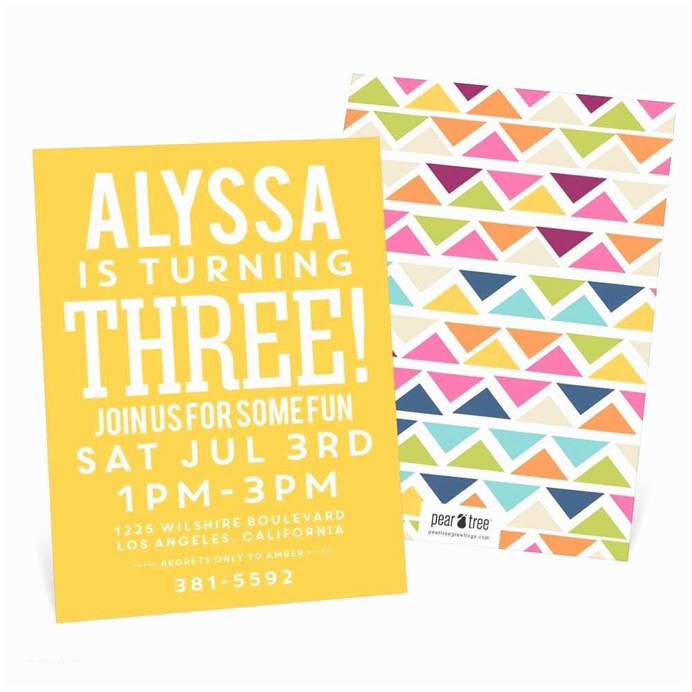 Kids Birthday Invitations Multicolor Mosaic Kids Birthday Invitations