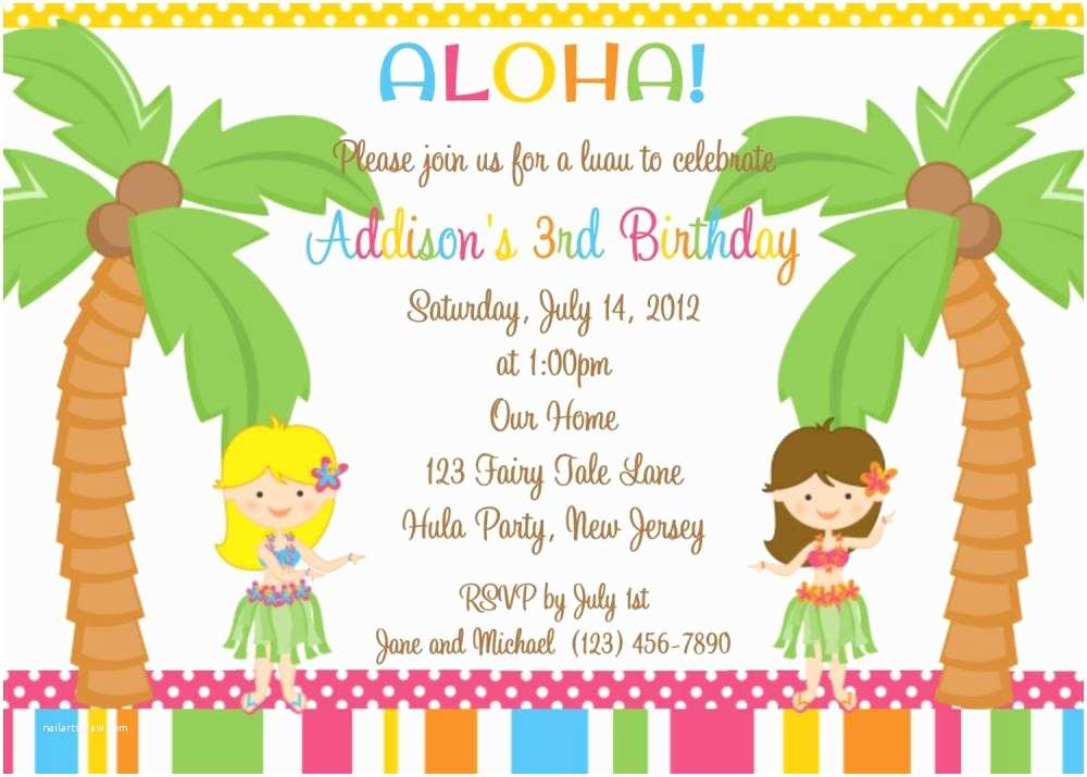 Kids Birthday Party Invitation Wording 18 Birthday Invitations for Kids – Free Sample Templates