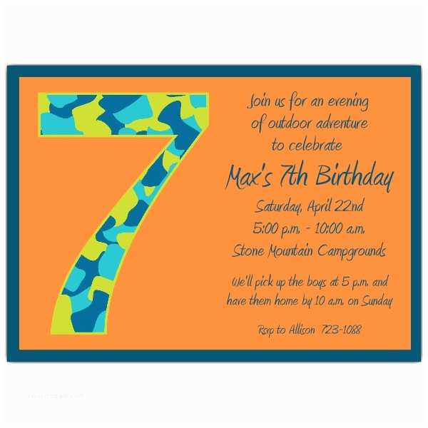 Kids Birthday Party Invitation Wording 7th Birthday Party Invitation Wording