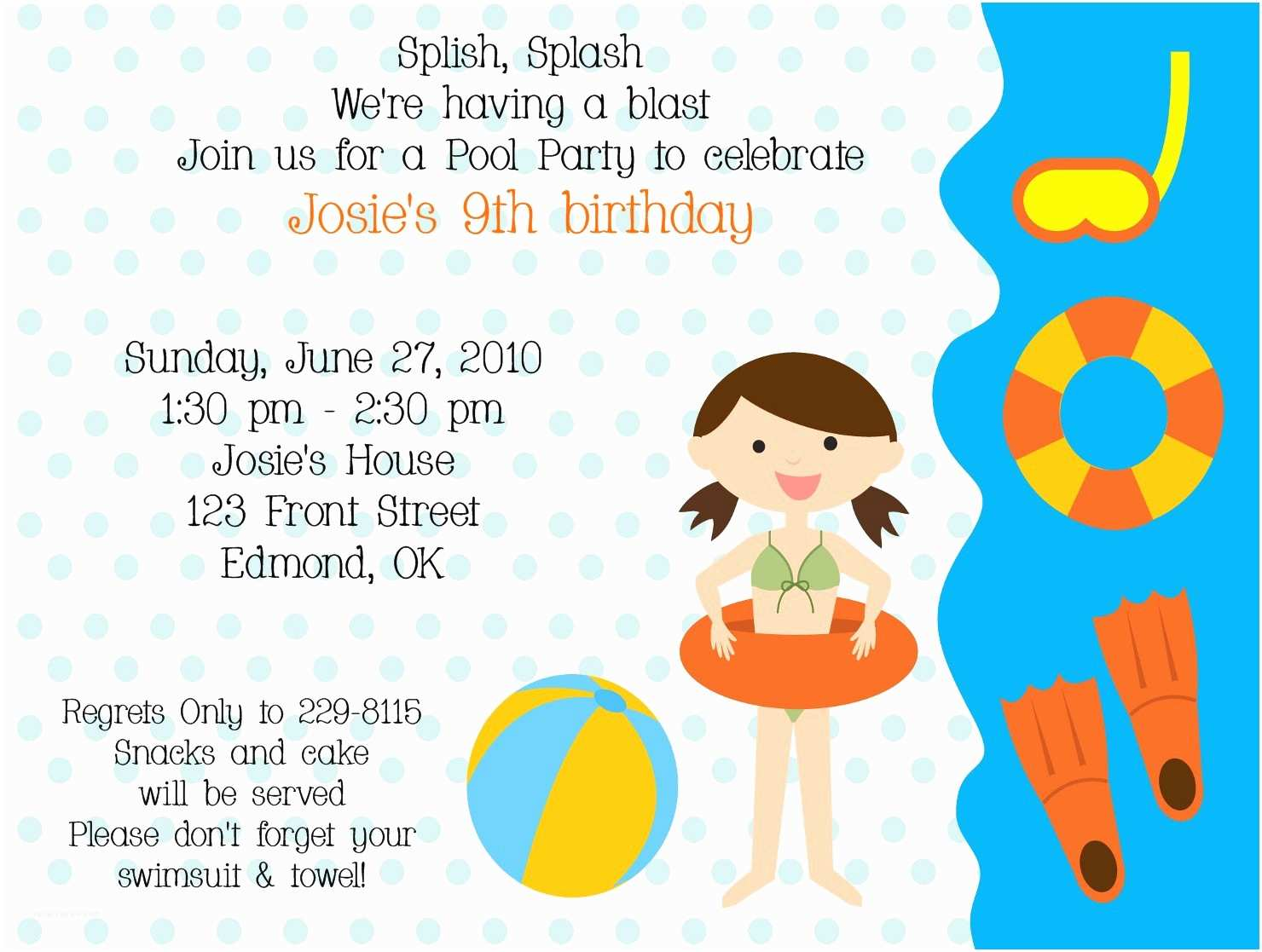 Kids Birthday Party Invitation Wording Invites Top 10