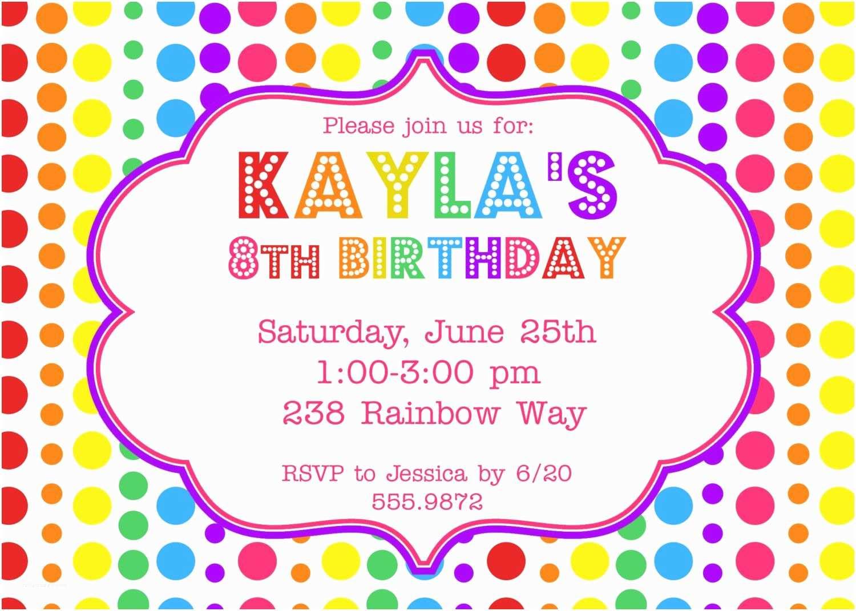 Kids Birthday Party Invitation Wording Rainbow Birthday Party Invitation $12 00 Via Etsy
