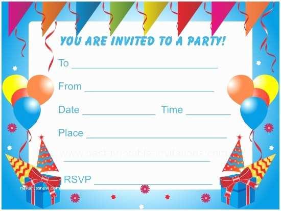 Kids Birthday Party Invitations Birthday Party Invitations for Kids
