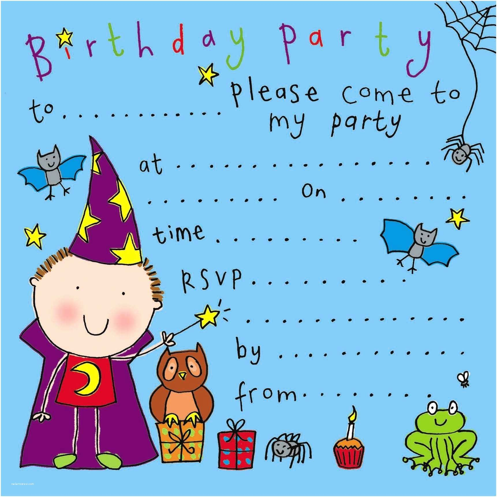 Kids Birthday Party Invitations Party Invitations for Kids Cobypic