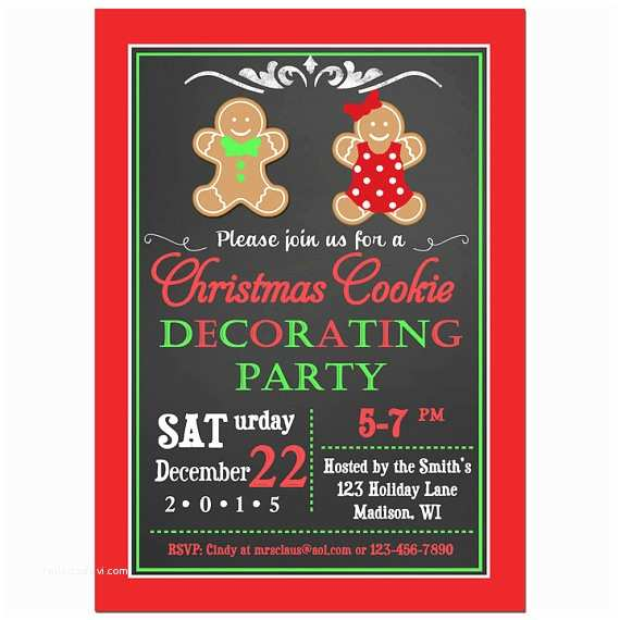 Kids Christmas Party Invitations Christmas Cookie Invitation Printable Any Wording