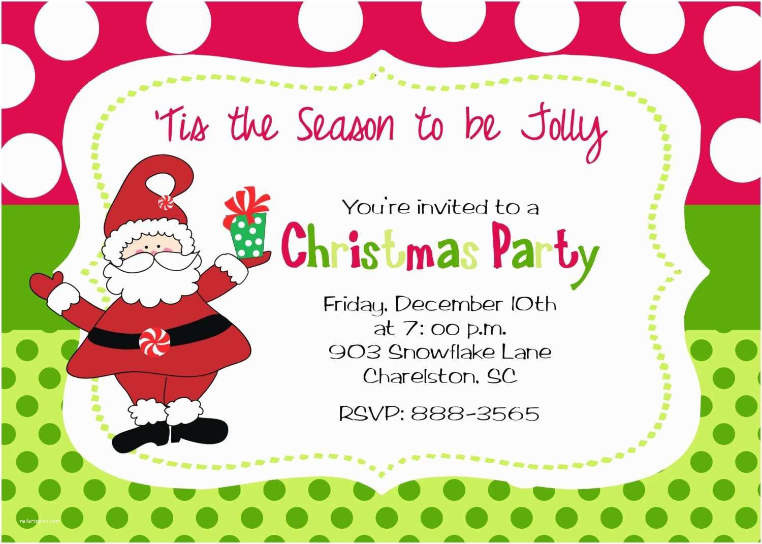 Kids Christmas Party Invitations Christmas Party Invitation