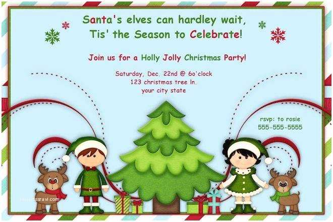 Kids Christmas Party Invitations Christmas Party Invitations for Kids A Birthday Cake