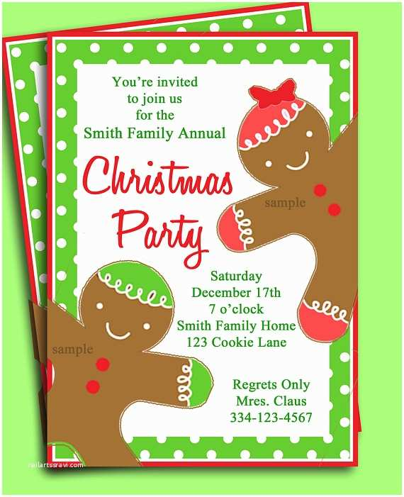 Kids Christmas Party Invitations Items Similar to Christmas Party Invitation Printable