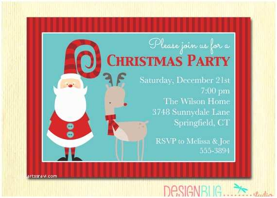Kids Christmas Party Invitations Items Similar to Christmas Party Invitation Secret Santa