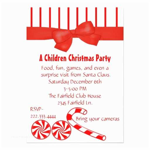 Kids Christmas Party Invitations Kid S Christmas Party Invitation