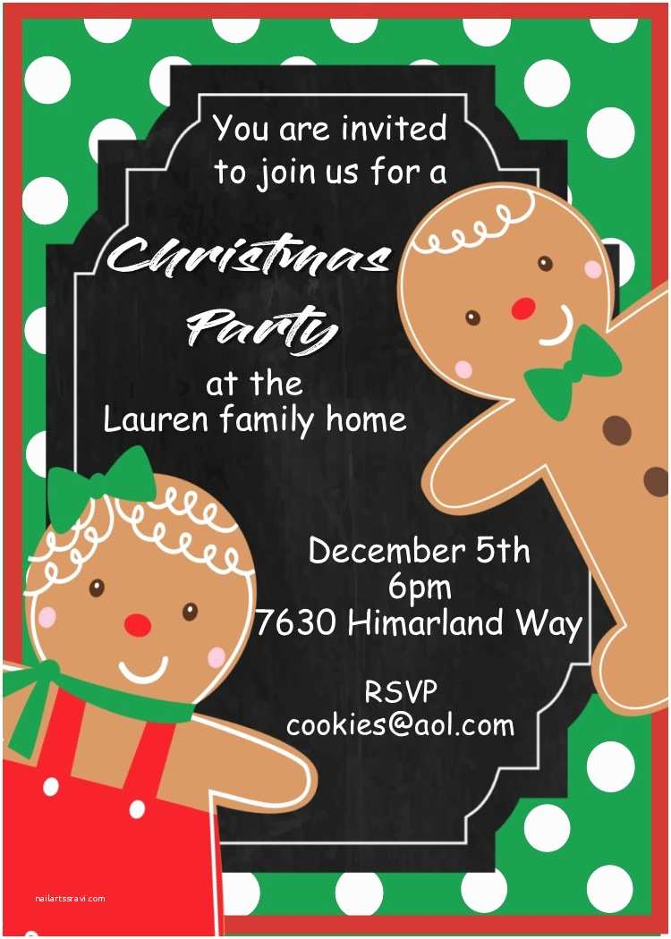 Kids Christmas Party Invitations Kids and Family Christmas Party Invitations New for 2017