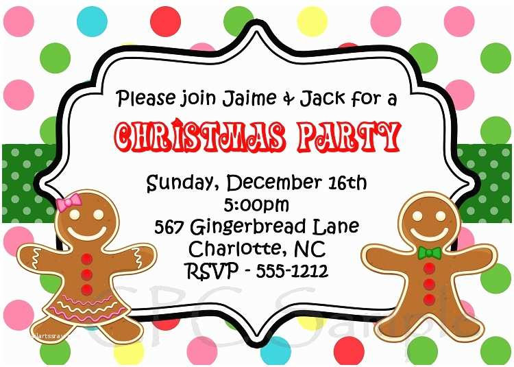 Kids Christmas Party Invitations Kids Christmas Party Invitation