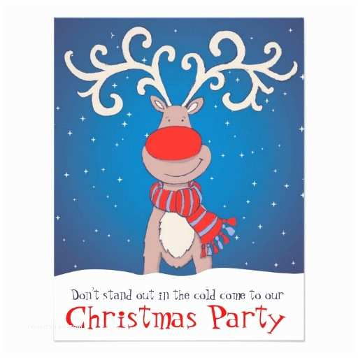 "Kids Christmas Party Invitations Kids Christmas Party Invitation Snowed Reindeer 4 25"" X 5"