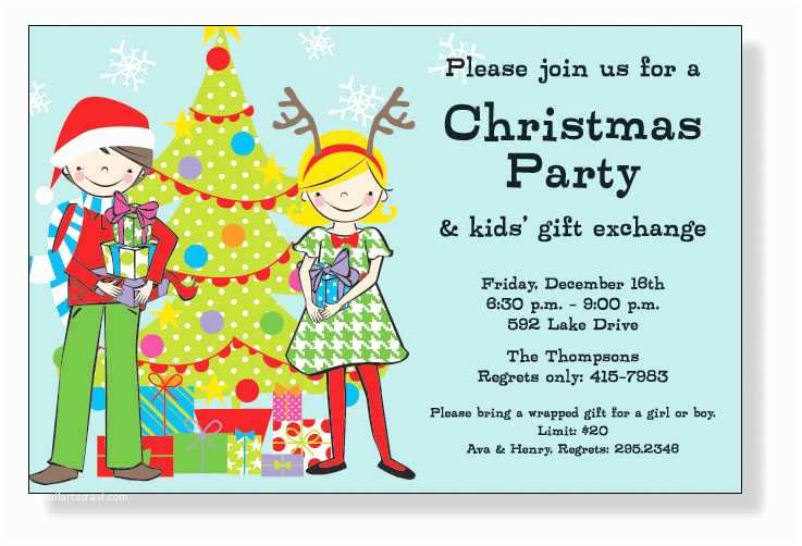 Kids Christmas Party Invitations Kids Christmas Party Invitations