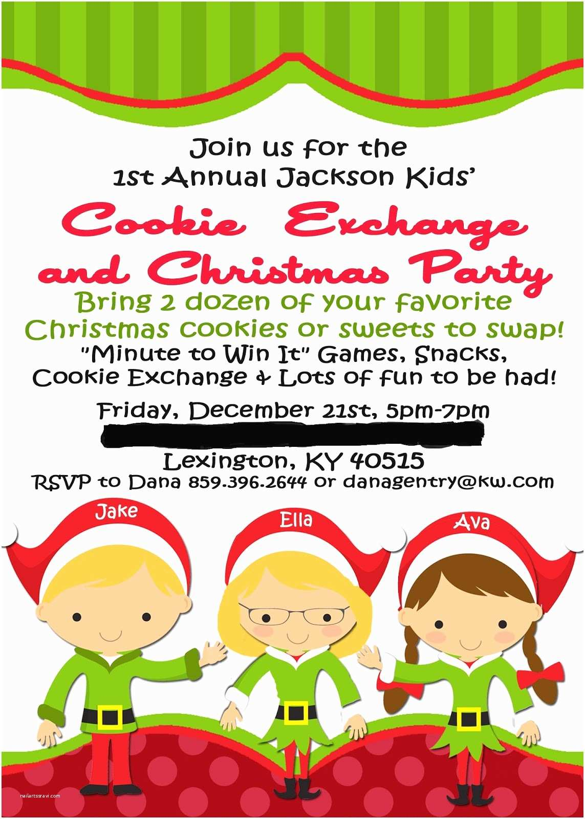 Kids Christmas Party Invitations Real Life Real Estate Real Dana Party Time