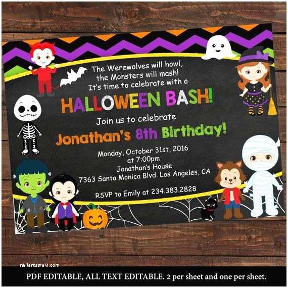 Kids Halloween Party Invitations Best 25 Birthday Ideas On Pinterest