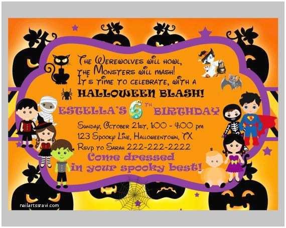 Kids Halloween Party Invitations Best 25 Halloween Invitations Kids Ideas On