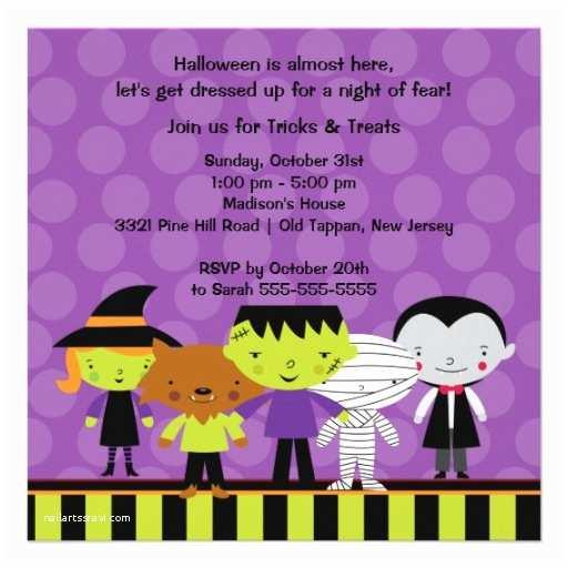 "Kids Halloween Party Invitations Cute Kids Halloween Costume Party Invitation 5 25"""