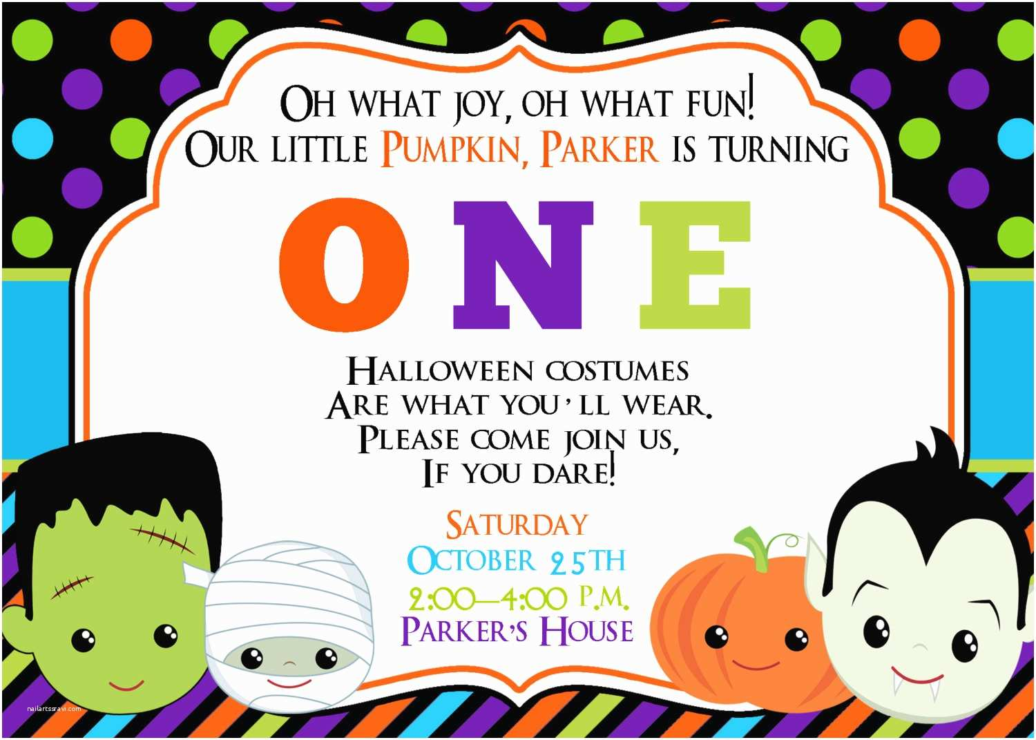 Kids Halloween Party Invitations First  Halloween Party Invitation Halloween