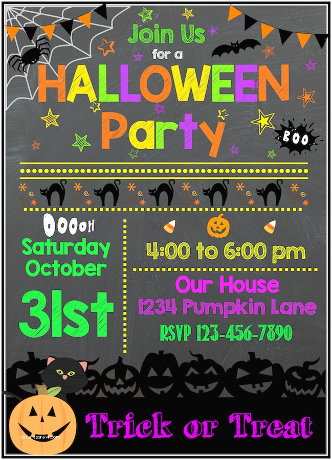 Kids Halloween Party Invitations Free Halloween Printables
