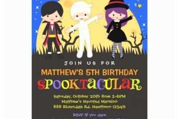 kids halloween party invitations halloween birthday invitation