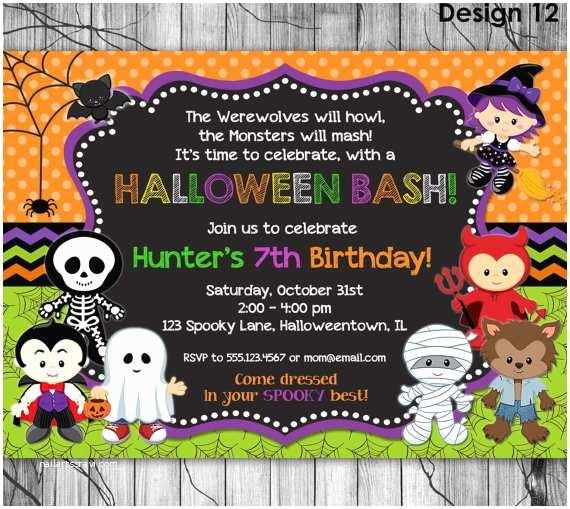 Kids Halloween Party Invitations Halloween Birthday Invitation Printable Kids Halloween Party