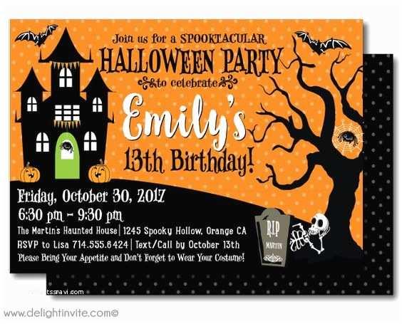 Kids Halloween Party Invitations Halloween Birthday Invitations Halloween Birthday and