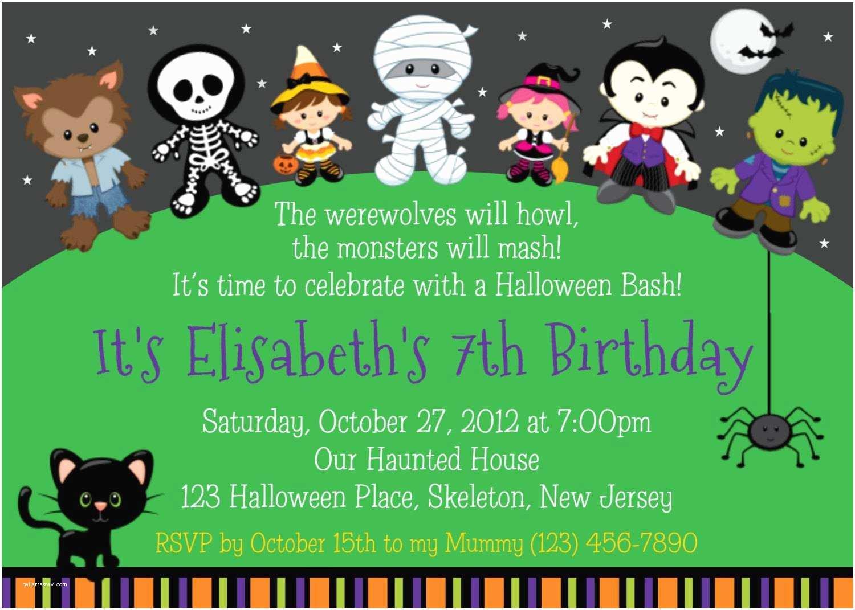 Kids Halloween Party Invitations Halloween Party Invitation Ideas