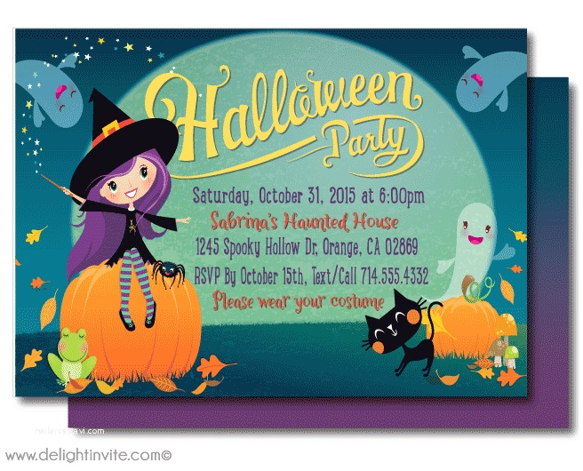 Kids Halloween Party Invitations Kid Friendly Halloween Party Invitations Printed