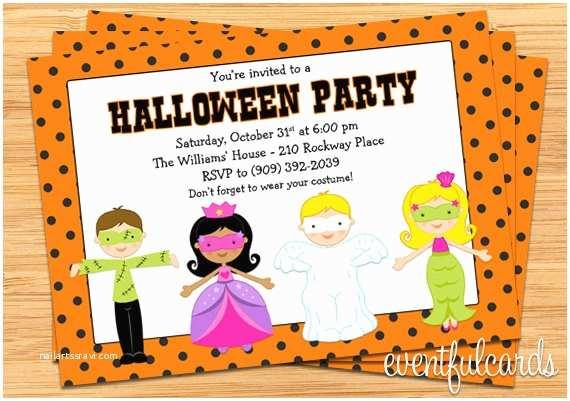 Kids Halloween Party Invitations Kids Halloween Costume Party Invitation